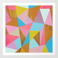 Wooden Colorful Art Print