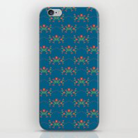Small floral kitchen collection blue iPhone & iPod Skin