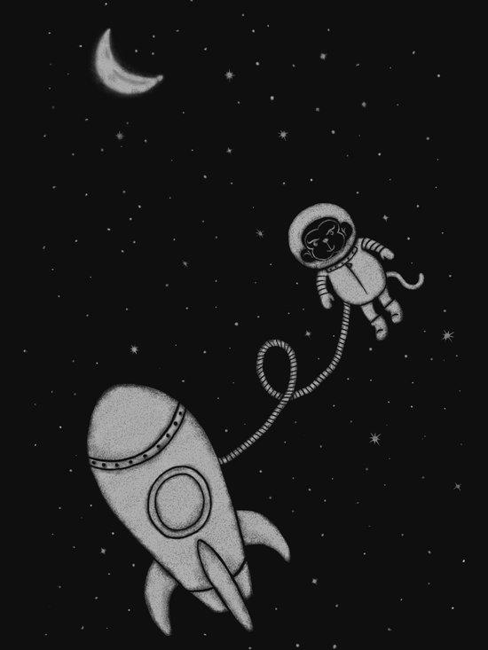 Monkey in Space Art Print