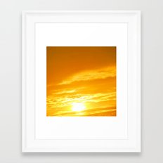 Μy Νeighborhood Sunset Framed Art Print