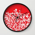 Red Birds Wall Clock
