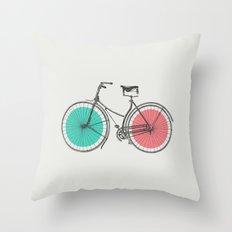 3D Bike Throw Pillow