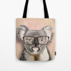 Funny koala with glasses Tote Bag