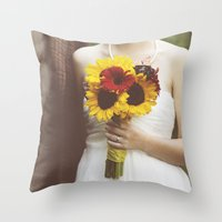 Man & Wife Throw Pillow