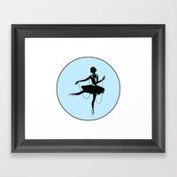 Ballerina Silhouette Framed Art Print