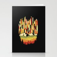 Sunset in Vertical Stationery Cards