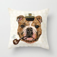 Mr.Bull Throw Pillow
