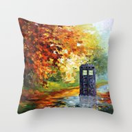 Starry Autumn Blue Phone… Throw Pillow