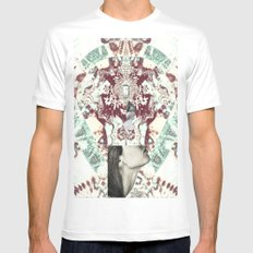 Dripping White Mens Fitted Tee SMALL