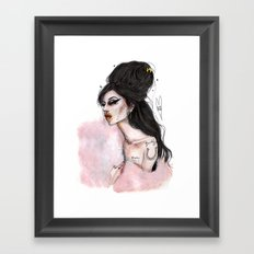 You sen't me flying amy W Framed Art Print