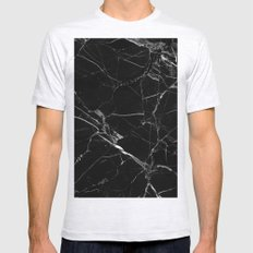 Black Marble Mens Fitted Tee Ash Grey SMALL
