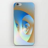Blue Labyrinth iPhone & iPod Skin