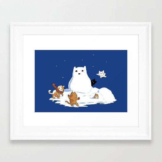 Snowcat Framed Art Print