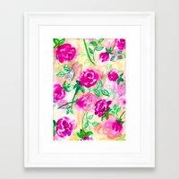 Watercolour Rose Framed Art Print