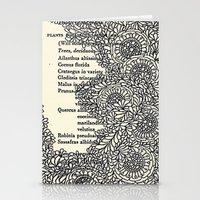Vintage Book Botanical Stationery Cards