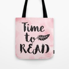 Time To Read - Pink  Tote Bag