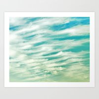 AFTERNOON CLOUDS Art Print