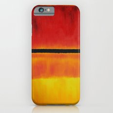 Untitled (Violet, Black, Orange, Yellow on White and Red) iPhone 6s Slim Case