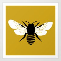 Bee World Art Print