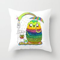 Adventure Time Totoro By… Throw Pillow