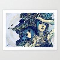 Zodiac Sign: Gemini Art Print
