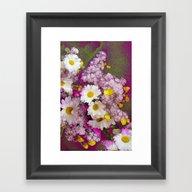 Framed Art Print featuring Pink Positive! by Joke Vermeer