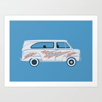 Grease Van Lightning Art Print