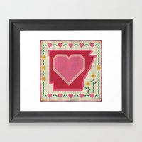 Home Sweet Arkansas Framed Art Print