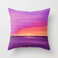 Untitled (Purple Sunset) Throw Pillow