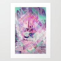 E_Wagon Dreams Aka Hippi… Art Print