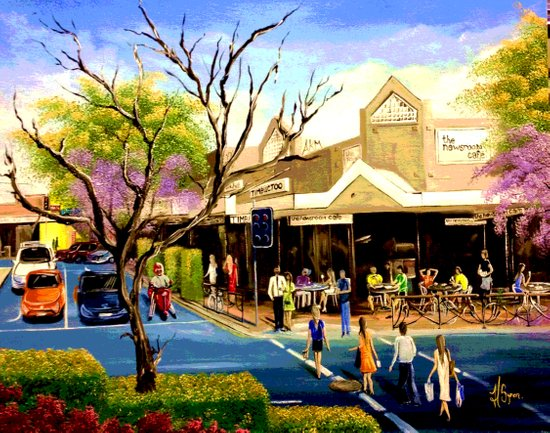 Sidewalk Cafe Art Print