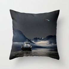 On the Water Under the Stars Throw Pillow