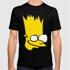 Badly Drawn Bart Mens Fitted Tee Black SMALL
