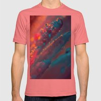 Psychedelic Floral Dew I… Mens Fitted Tee Pomegranate SMALL