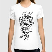 Cake-bot Womens Fitted Tee White SMALL