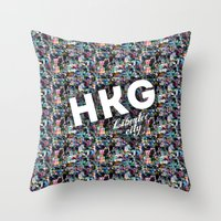 Hong Kong (Libertee City) Throw Pillow