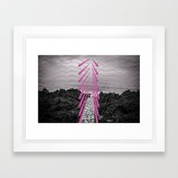 Surreal Beachscape Framed Art Print