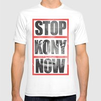 Stop Kony Mens Fitted Tee White SMALL