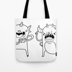 Monster Dialogues Tote Bag