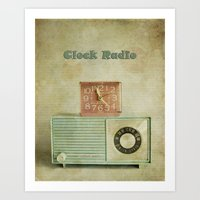 Retro Clock Radio Art Print