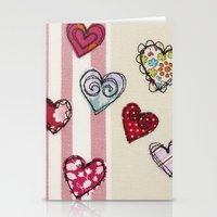 Embroidered Heart Illust… Stationery Cards