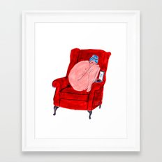 Naked Lady Framed Art Print