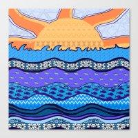 Sun On The Horizon Canvas Print