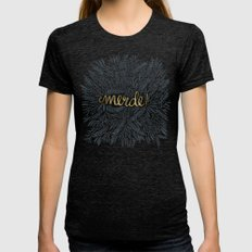 Pardon My French – Bla… Womens Fitted Tee Tri-Black SMALL