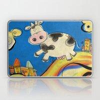 Cow - blue Laptop & iPad Skin