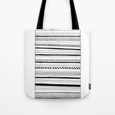 Abstract Black Lines Pat… Tote Bag
