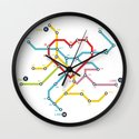 Home Where The Heart Is Wall Clock