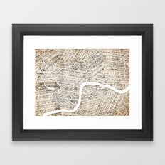London Map Symphony  Framed Art Print