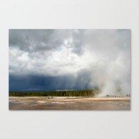 Beautiful Skies Of Yello… Canvas Print