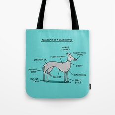 Greyhound Anatomy Tote Bag